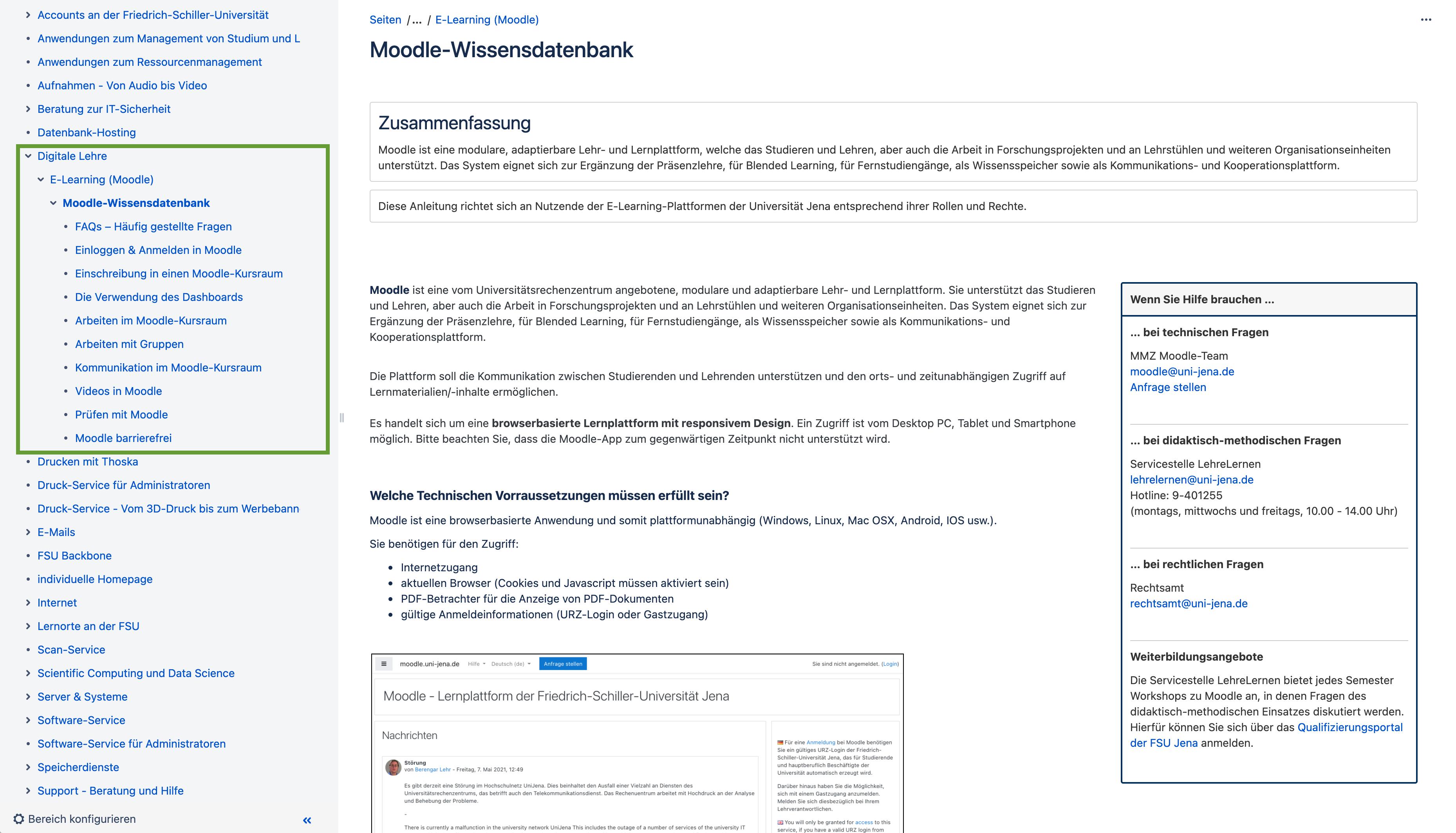 Wiki FSU Jena Moodle-Wissensdatenbank